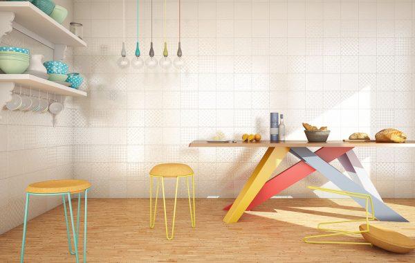 Cocina 3D Blanco Modena