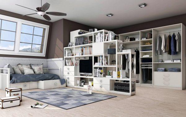 Habitación 3D Librero