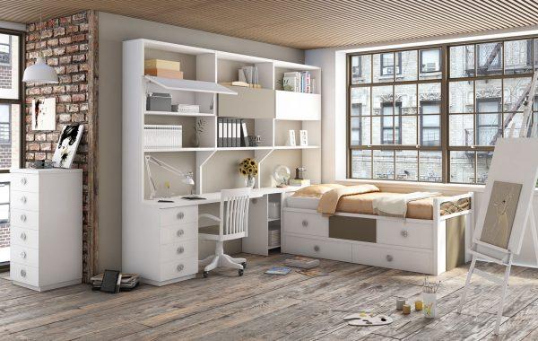 Habitación 3D Estantes