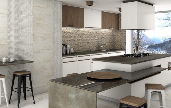 Ambiente cocina Travertino
