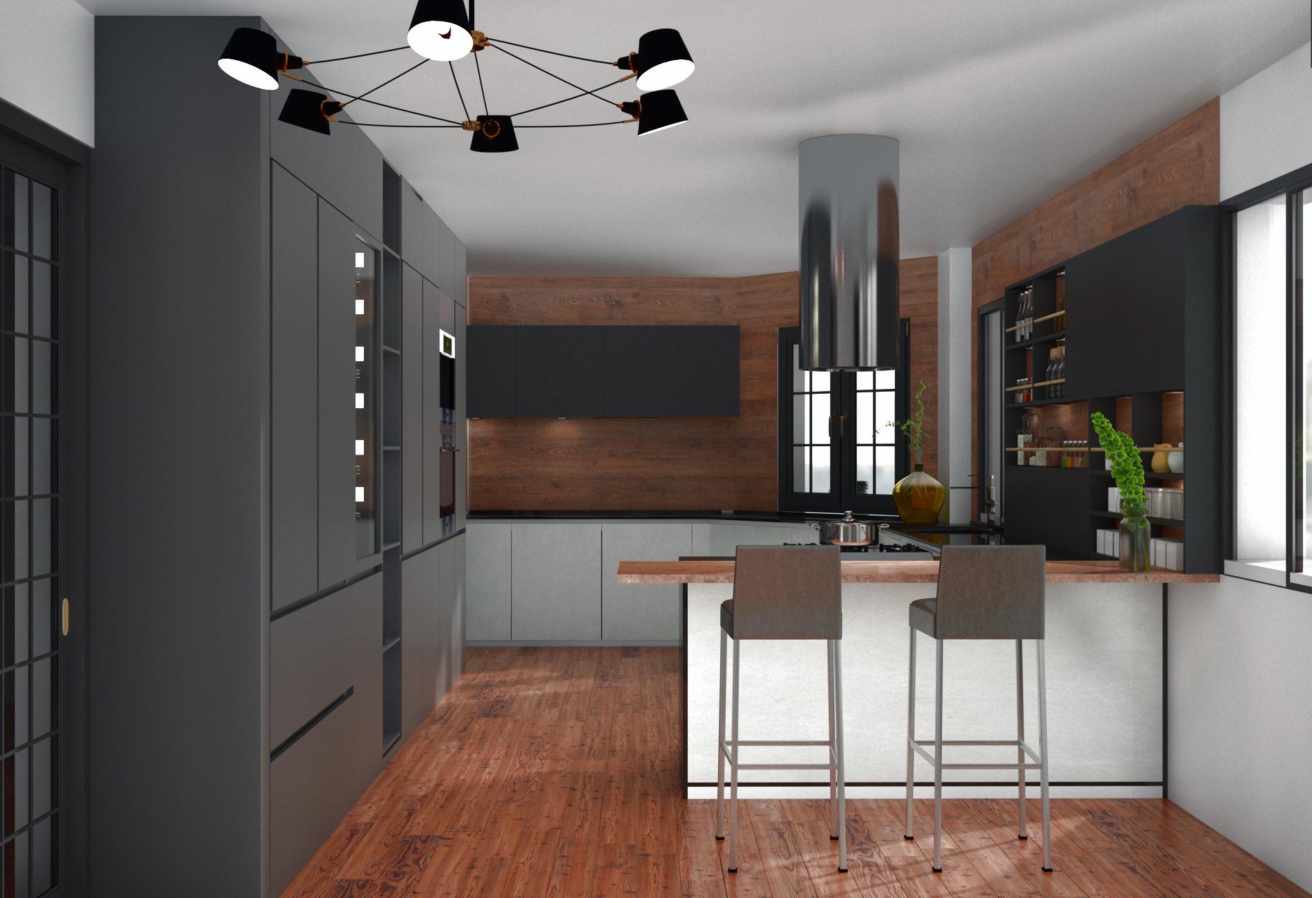 Remodelación Cocina 3D Inmobiliaria Class Home