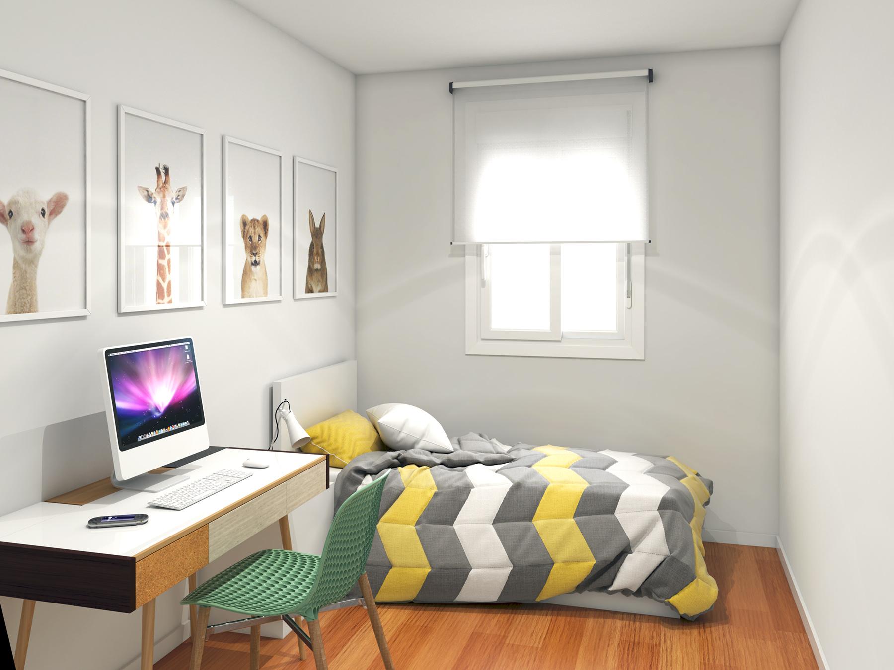 Modelado texturizado e iluminaci n habitaci n 3d - Iluminacion habitacion ...