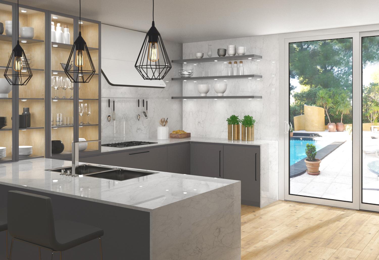 Infograf a cocina 3d valencia arquitectura y 3d valencia for Cocinas diseno valencia