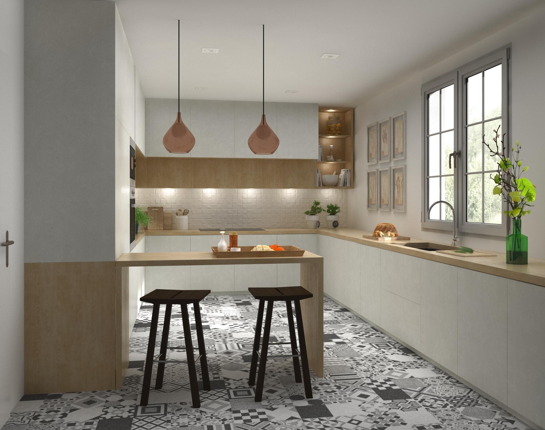 DISEÑO AMBIENTE COCINA 3D - Arquitectura y 3D Valencia - Ardis3D