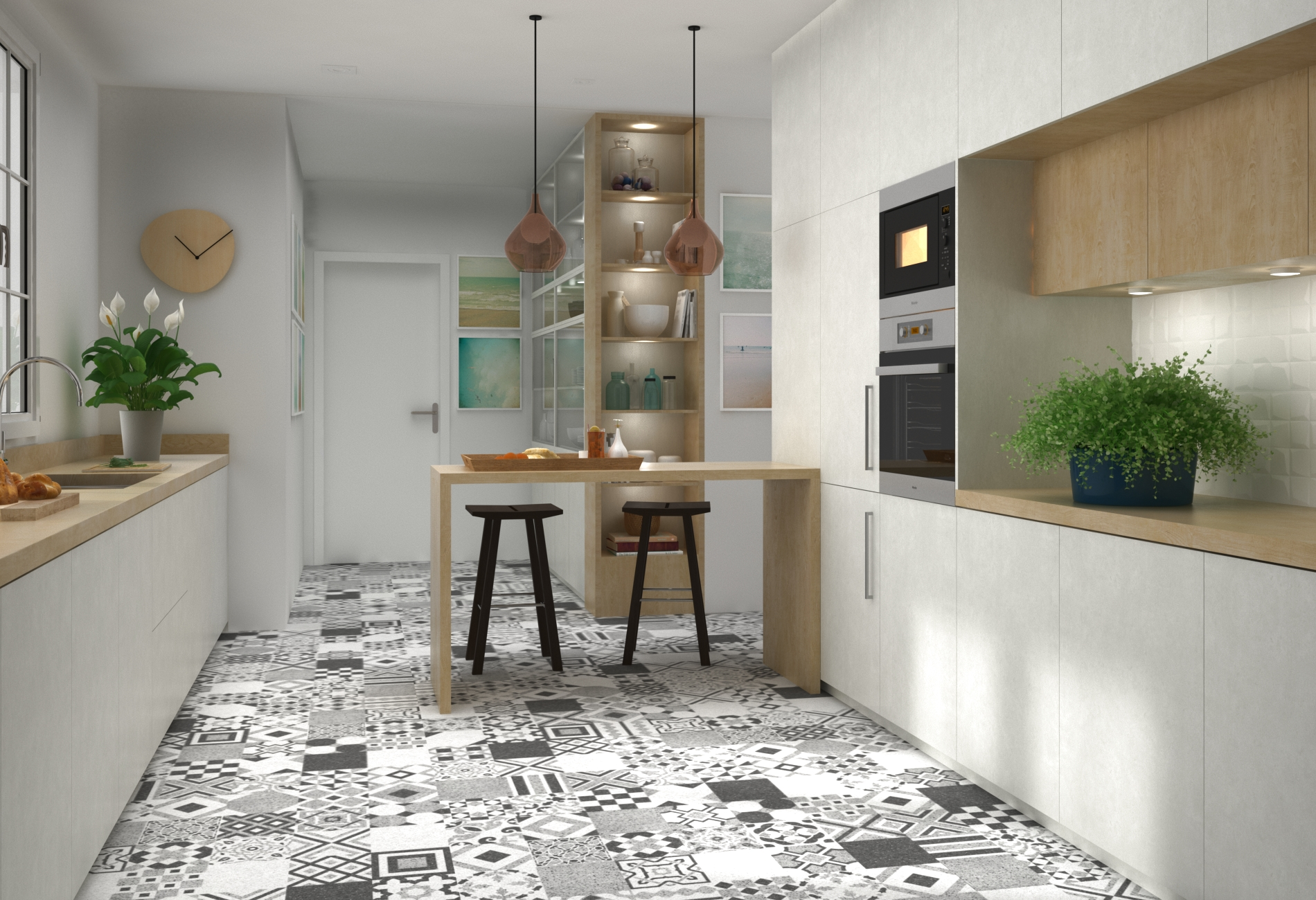 Dise o ambiente cocina 3d arquitectura y 3d valencia ardis3d - Diseno cocina 3d ...